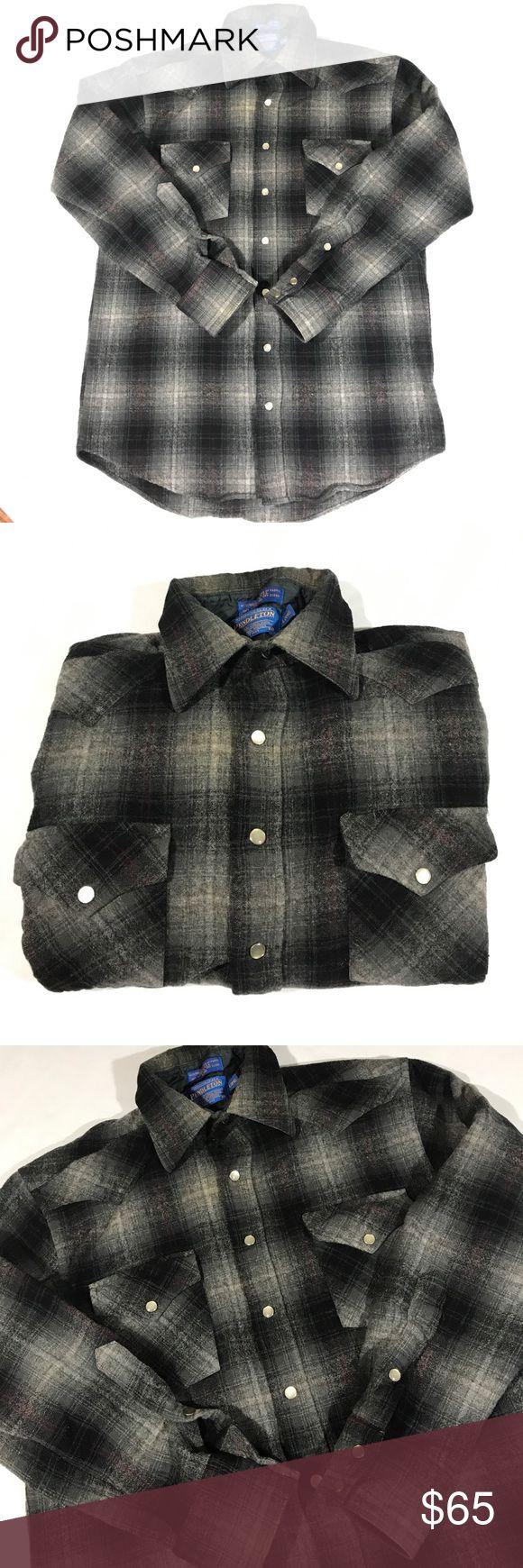 "Pendleton vintage plaid flannel Button down shirt Size M great condition no flaws. Armpit to armpit 19.5"" length 28"" sleeve length 21.5"" Pendleton Shirts Casual Button Down Shirts"