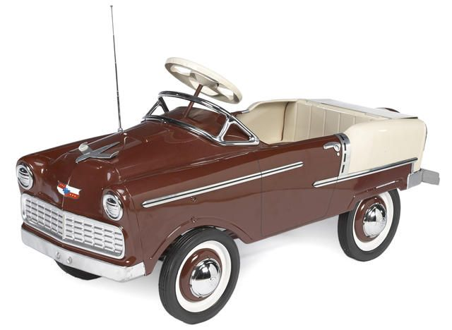 A 1958- 55 Chevy Lancer pedal car by Murray,  Approximately 41 ins. long