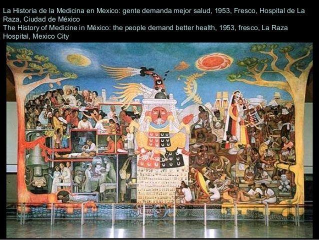 La historia de la medicina en mexico 1953 diego rivera for Diego rivera la conquista mural