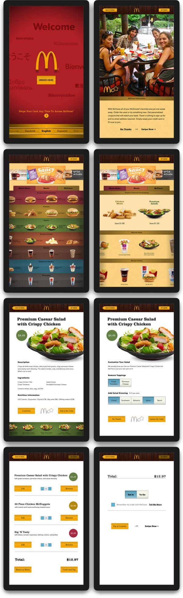 Interactive McDonald's Menu