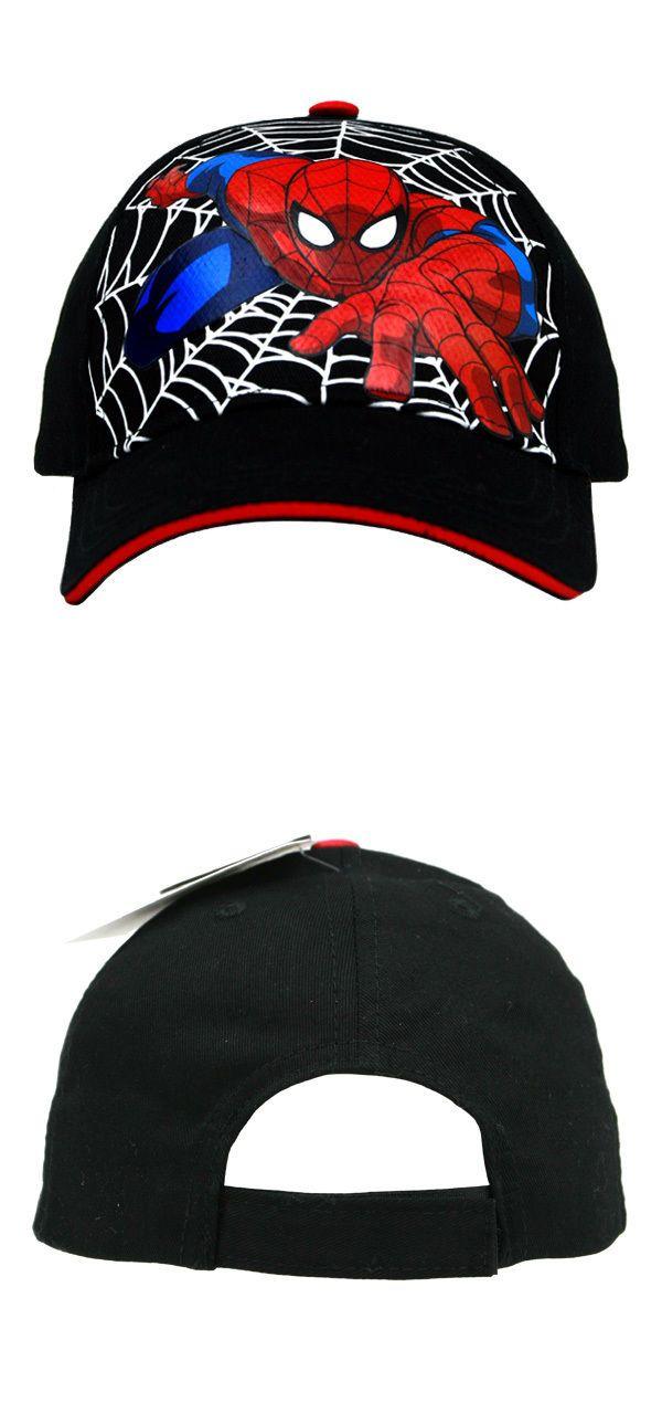Boys Accessories 57881  Marvel Spider-Man Black Baseball Cap – Boys Toddler  -  3a2e0666921a