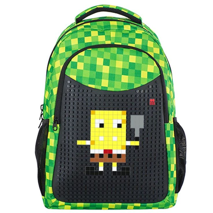 PIXIE CREW Student Backpack GREEN CHEQUERED + Pencil Case SET - Student Backpacks - Backpacks  | Pixie Crew