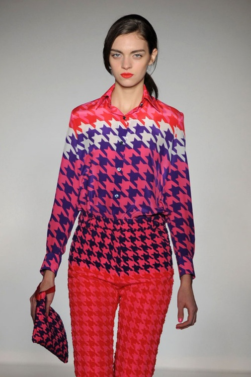Colourful way: רגל תרנגולת ושיני כלב - pied de poule & houndstooth