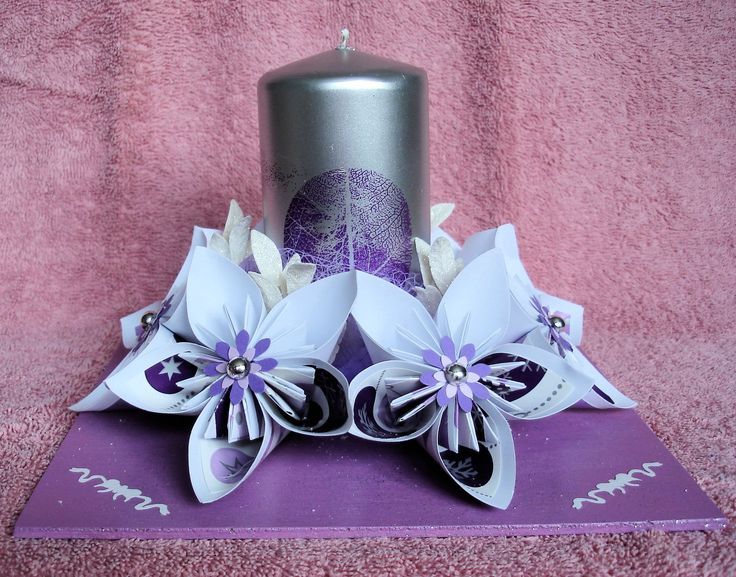 Décoration centre table fleurs kusudama en pliage origami : Accessoires de maison par michedeco