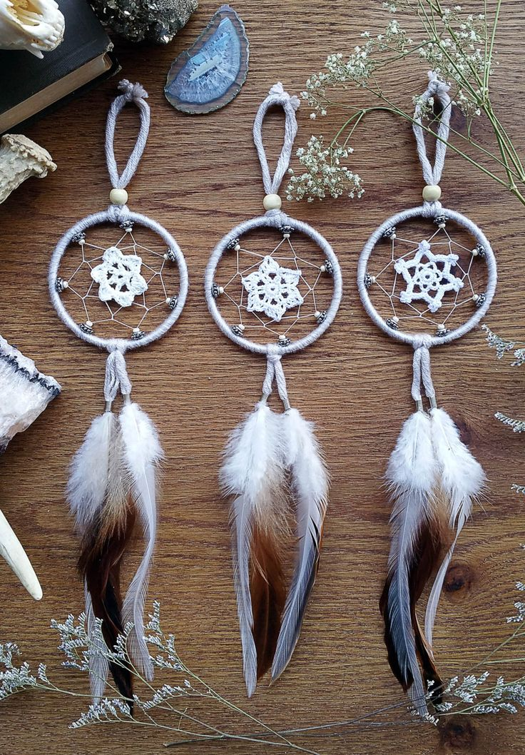 Small Crochet Dream Catchers by Aurvgon on Etsy