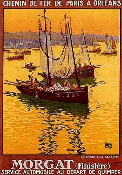 Sardiniers à Morgat by Charles Allo (1925)