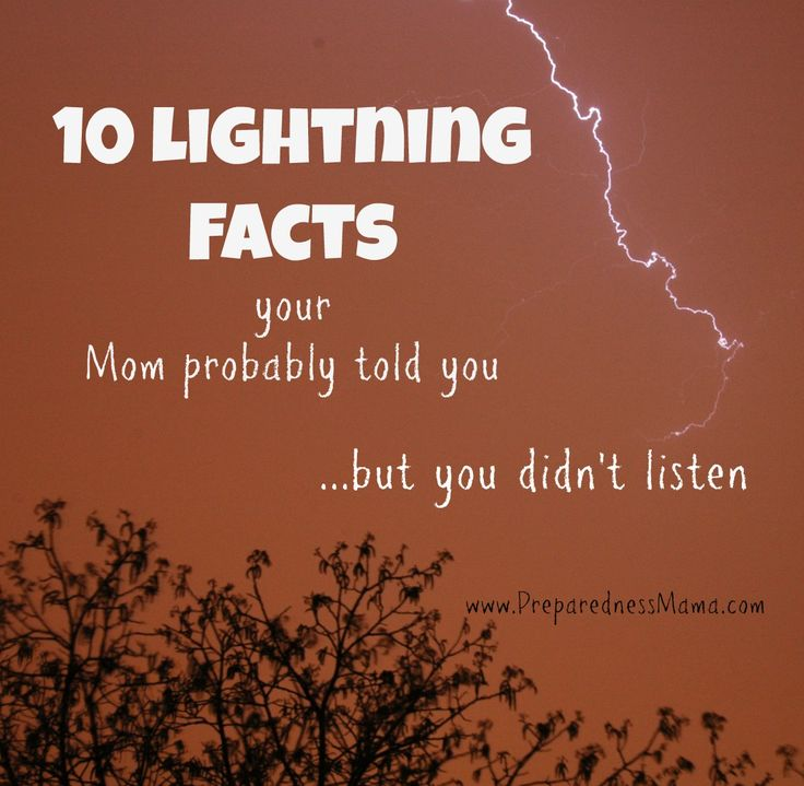 10 Lightning Safety Facts Mom Probably Told You - PreparednessMama