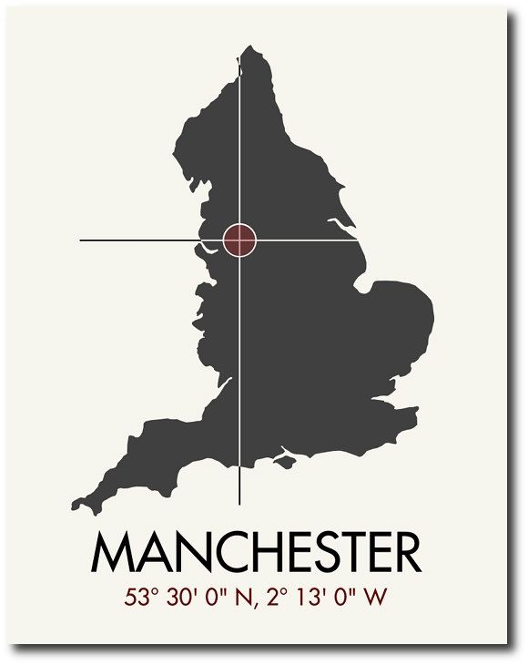cheap air max  australia Manchester Map Print Manchester Map Art Manchester Print Manchester Gift UK Map   x  Print Maps Cities and City Maps
