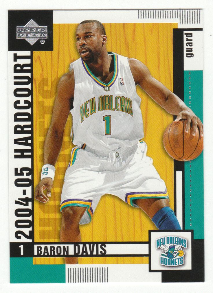Baron Davis # 55 - 2004-05 Upper Deck Hardcourt Basketball