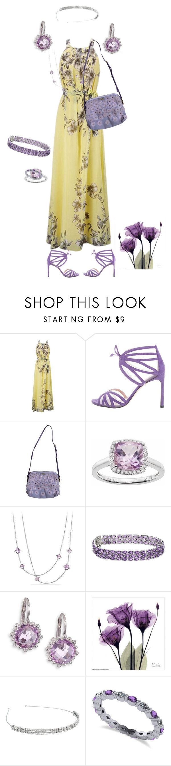 """""""Maxi dress Invisible doll"""" by snowflakeunique ❤ liked on Polyvore featuring Stuart Weitzman, Burberry, LC Lauren Conrad, David Yurman, Blue Nile, Anzie, Nina and Allurez"""
