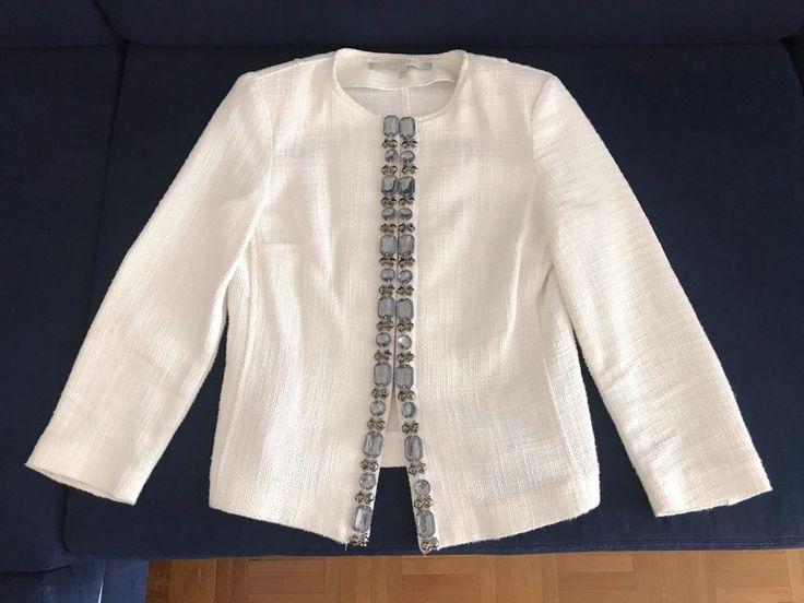 Veste blazer la fée maraboutée  blanche et bijoux   36  Excellent état   Parfaite sur un jean pour bosser ou sur une petit...