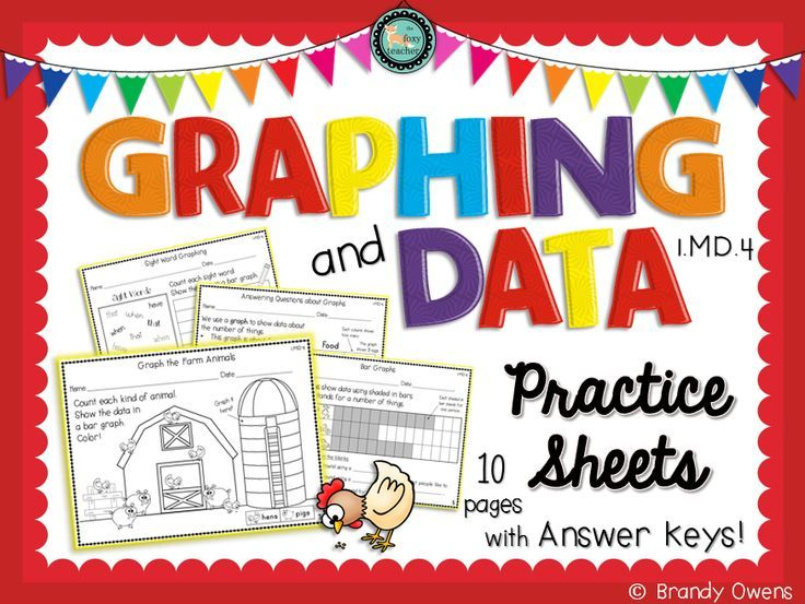 Graphing and Data Practice Sheets.  Introduces picture graphs and bar graphs for first grade or review for second grade. 1.MD.4, 2.MD.10