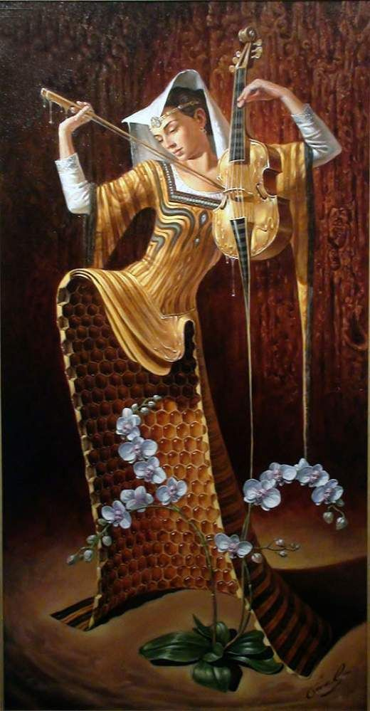 Honey-Sweet Serenade. Michael Cheval, surrealismo