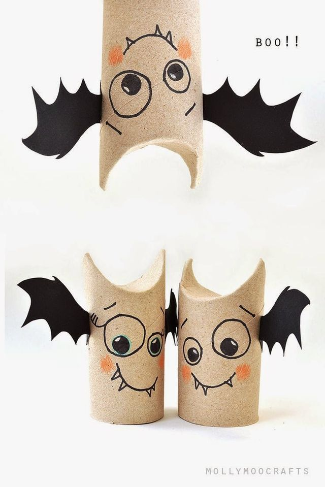 TOILET ROLL BAT BUDDIES mollymoocrafts.com CARDBOARD BOX SPIDER mollymoocrafts.com GHOST ON A STICKohhappyday.com SPOOKY BATS PEGSclipzine.m