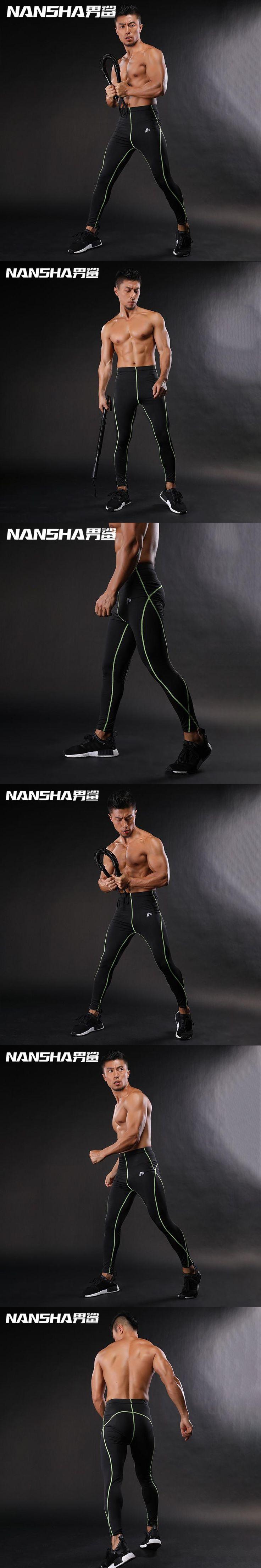 2017 New Fashion Men's Sexy Tight Pants Slim Fitted Active Pants Crossfit Sweatpants Elastic Fitness Men's Workout Pants NANSHA