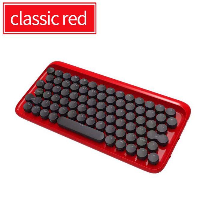 Lofree dot bluetooth klawiatura mechaniczna starym stylu okrągły przycisk kopiowania dla ipad/iphone/macbook/pc komputer/android tablet w  od Keyboards na Aliexpress.com | Grupa Alibaba