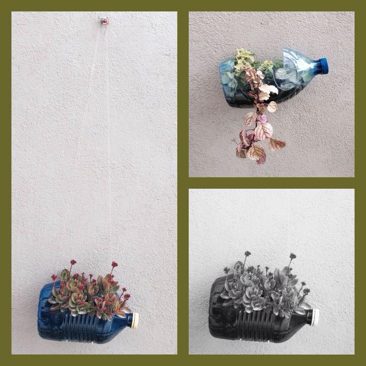 Reciclatge amb ampolles de plàstic