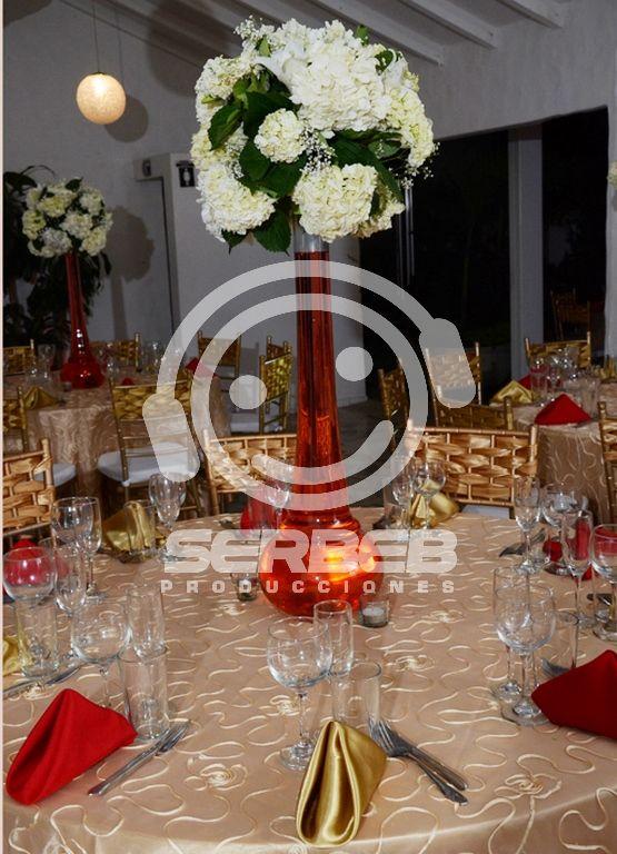 Centro de mesa en estilo Jirafa.