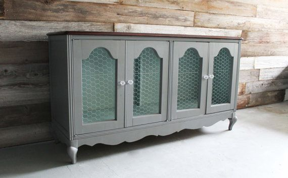 french country console cabinet 2