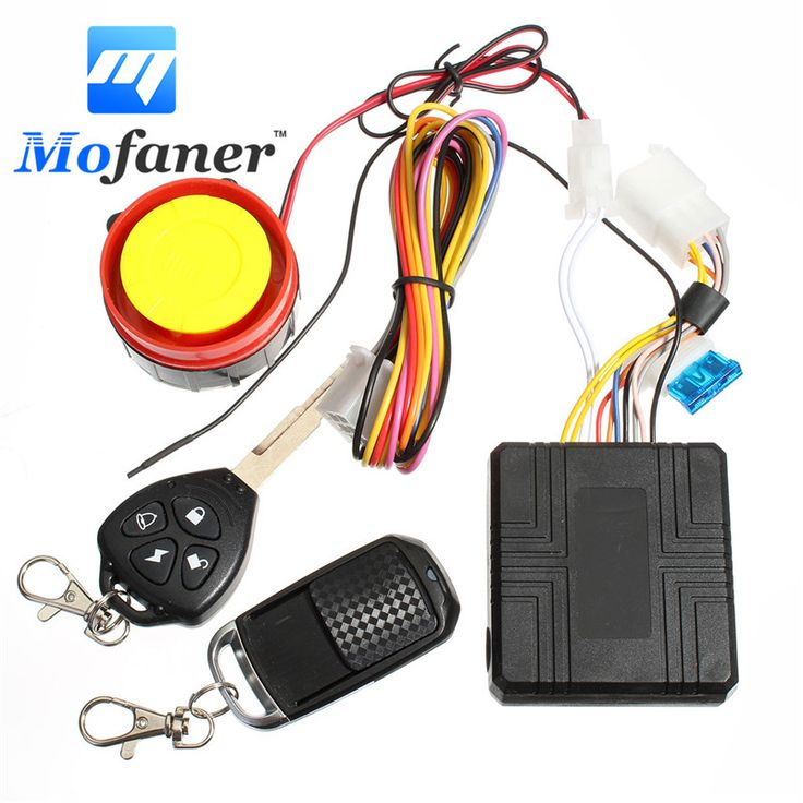 sale 12v universal motorcycle motorbike scooter compact security alarm system remote control engine #yamaha #scooter