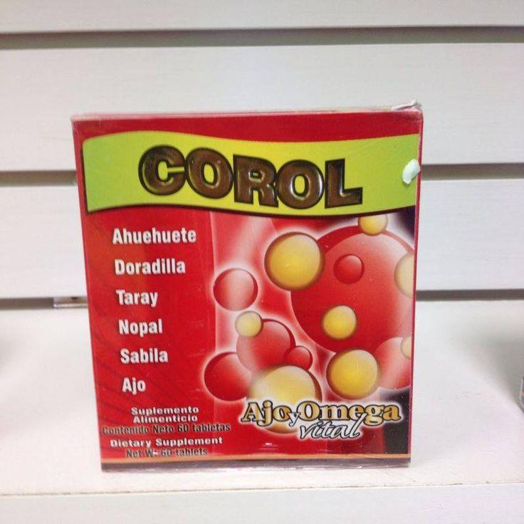 Tabletas Corol, para Colesterol, Trigliceridos, Mareos, Zumbido De Oidos