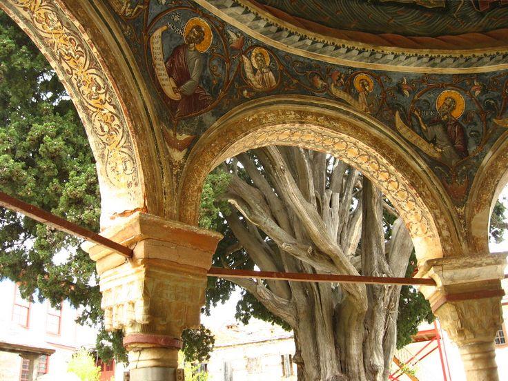 Фрески купола крещальни, Великая Лавра