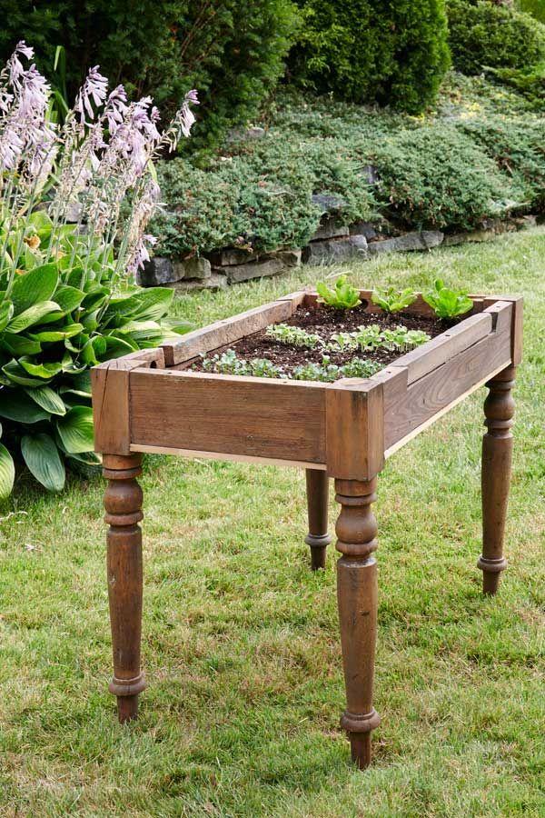 Come fare un tavolo di lattuga da un vecchio tavolo o scrivania. Modo perfetto per far crescere il tuo …
