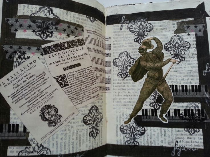 Opera art journal page