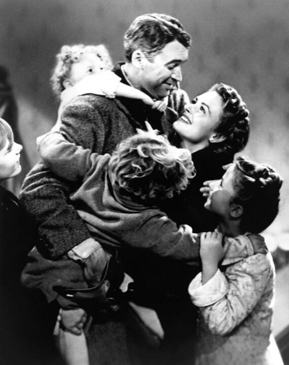 """It's a Wonderful Life.""  George Bailey truly was the luckiest man in town.Christmas Time, Christmas Movies, Belle Rings, Christmas Film, Favorite Holiday, Christmas Angels, Favorite Movie, Favourite Movie, Favourite Christmas"