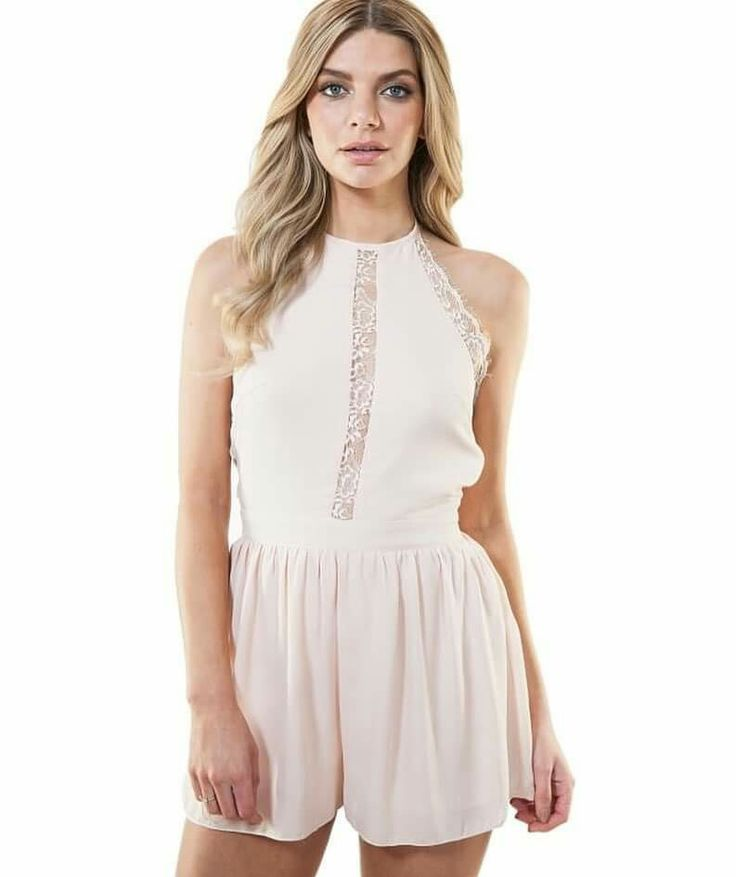 Nude halter playsuit  sizes 8-14