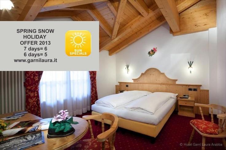 Spring Offer 2013 - Snow Holiday in Arabba Dolomites    http://www.garnilaura.it/EN/news/offers/spring-snow-holiday-offer-2013  #Arabba #Dolomites #Snow #Offer #Spring #holiday