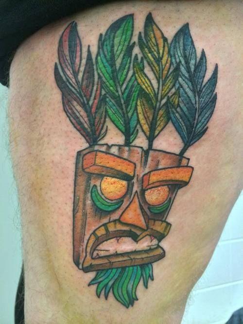 26 best aku aku tattoo images on pinterest aku aku for Aku aku tattoo