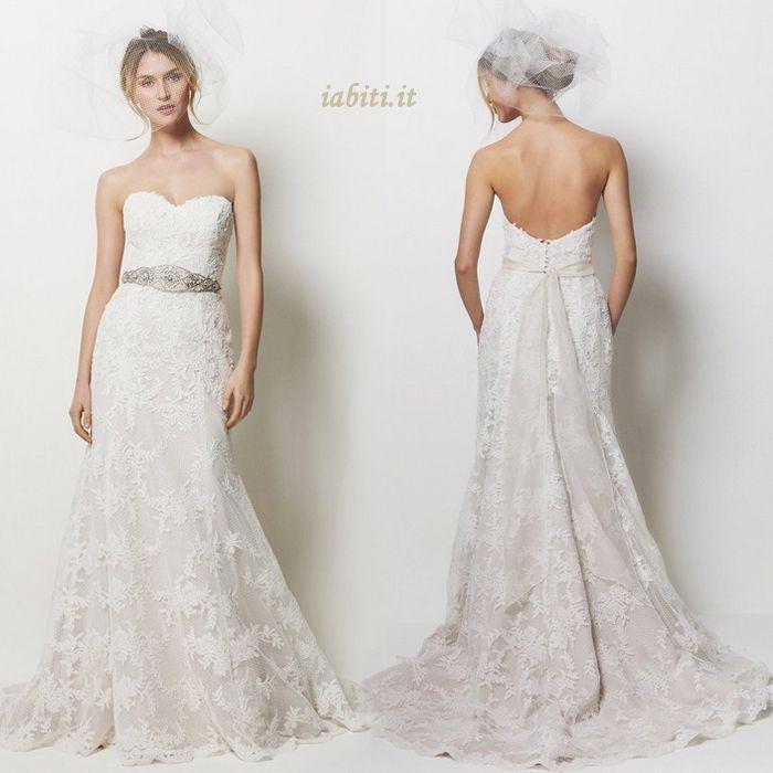 Abito da Sposa A Terra moda con Floreale di cristallo pin Tubino Coda A Strascico Corto 246.09€
