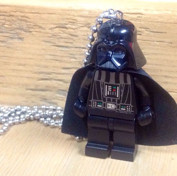 Darth Vader Necklace - Lego Minifigure on Etsy, $15.00