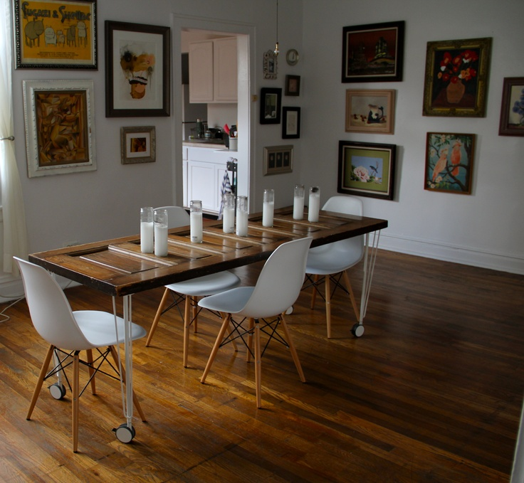 dining table old door dining table