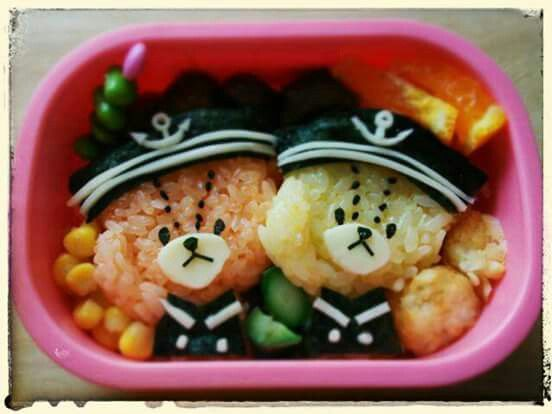 """Tiny Twin Bears"", Japanese cartoon character! Find out more details on Facebook site ""Cool & Kawaii Character Bento"""