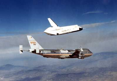 Before the space shuttle could orbit in space, it had to prove that it could land on Earth. On August 12, 1977, the first free flight by the prototype space shuttle orbiter Enterprise was successfully flown at NASA's Dryden Flight Research Center at Edwards Air Force Base in Southern California's high desert.  NASA