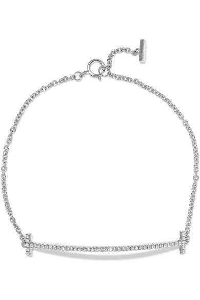 Tiffany & Co. - T Smile 18-karat White Gold Diamond Bracelet -