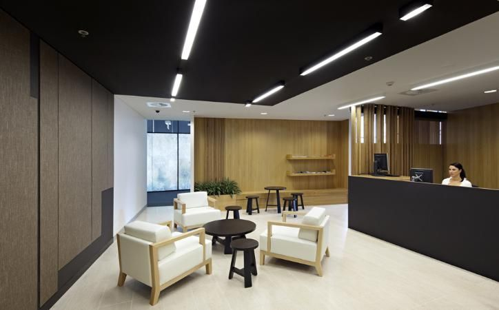 Reception at Department of Environment and Resource Management, QLD Designed by Cox Rayner Architects
