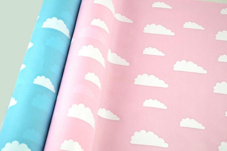 Βαμβακερό ύφασμα με σύννεφα