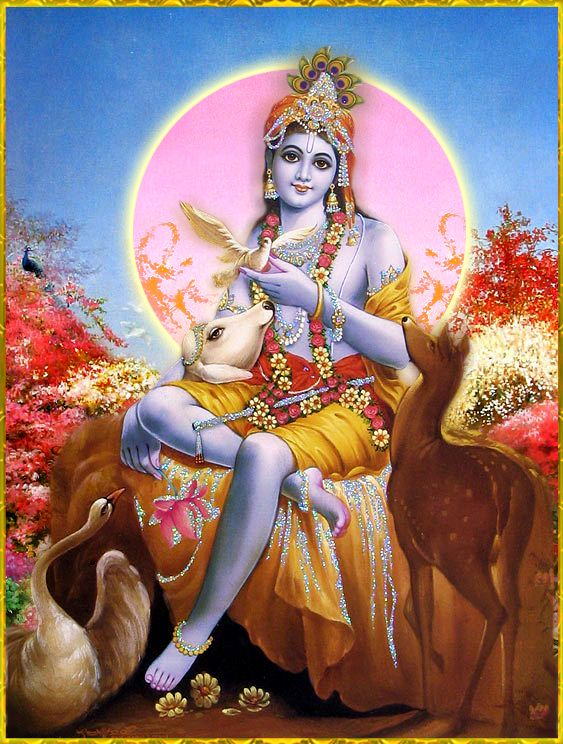 """krishnaart: Shri Krishna said: """"In all activities just depend upon Me and work always under My protection. In such devotional service, be fully conscious of Me.""""~Bhagavad Gita as it is 18.57 Jai Sri Krsna!"""