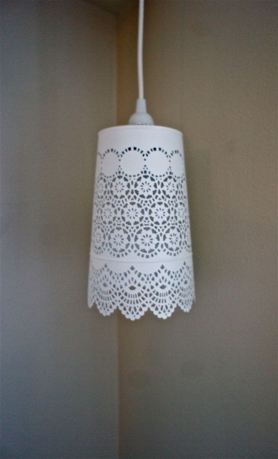 etsy lighting pendants. items similar to white lace hanging pendant light large on etsy lighting pendants