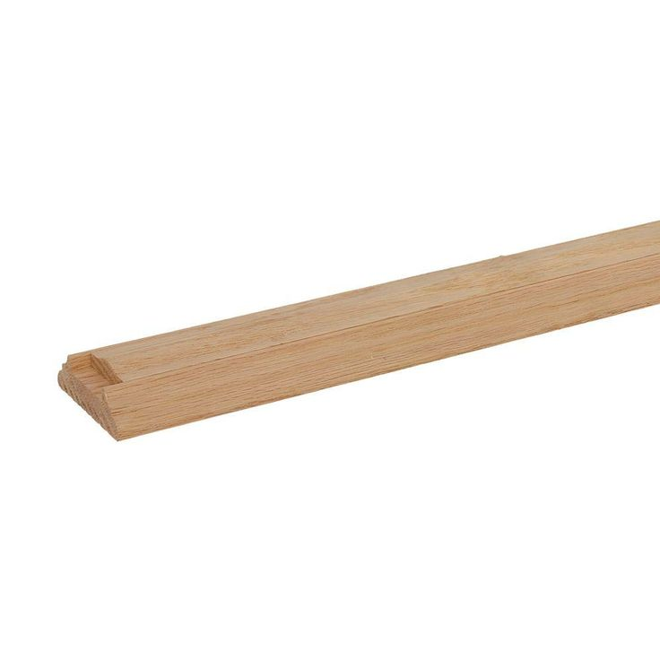 Best Stair Parts 6045 16 Ft Unfinished Red Oak Shoe Rail With 400 x 300
