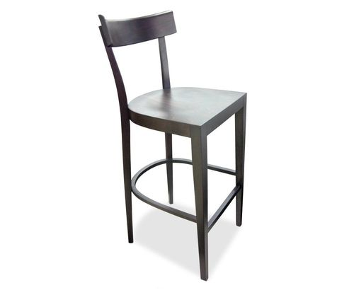 Bistro. Made in Australian using Italian components. Available without a back as a stool, and with or without a padded seat.