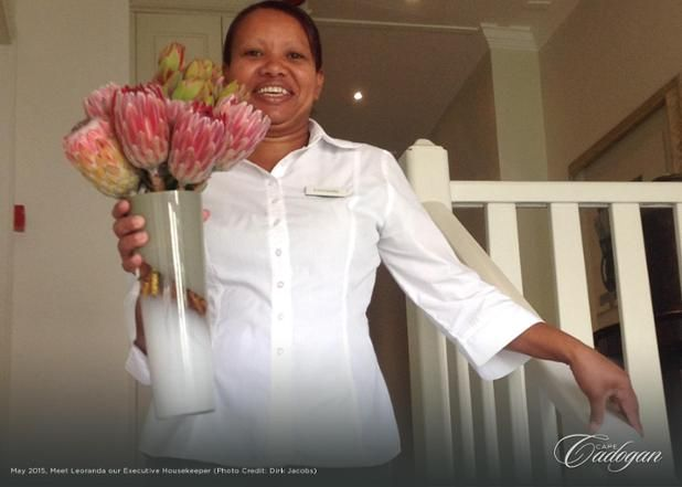 A prouder lady you would be challenged to find! Leoranda is our executive housekeeper, and anyone who has visited Cape Cadogan will know that she is magnificent at her job. Not a detail passes her eye un-noticed #MOREpeople