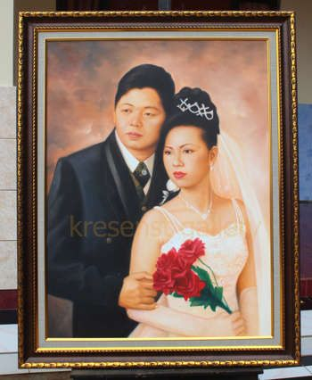 """""""Wedding Couple"""" #Creative #Art in #painting @Touchtalent http://bit.ly/Touchtalent-p"""