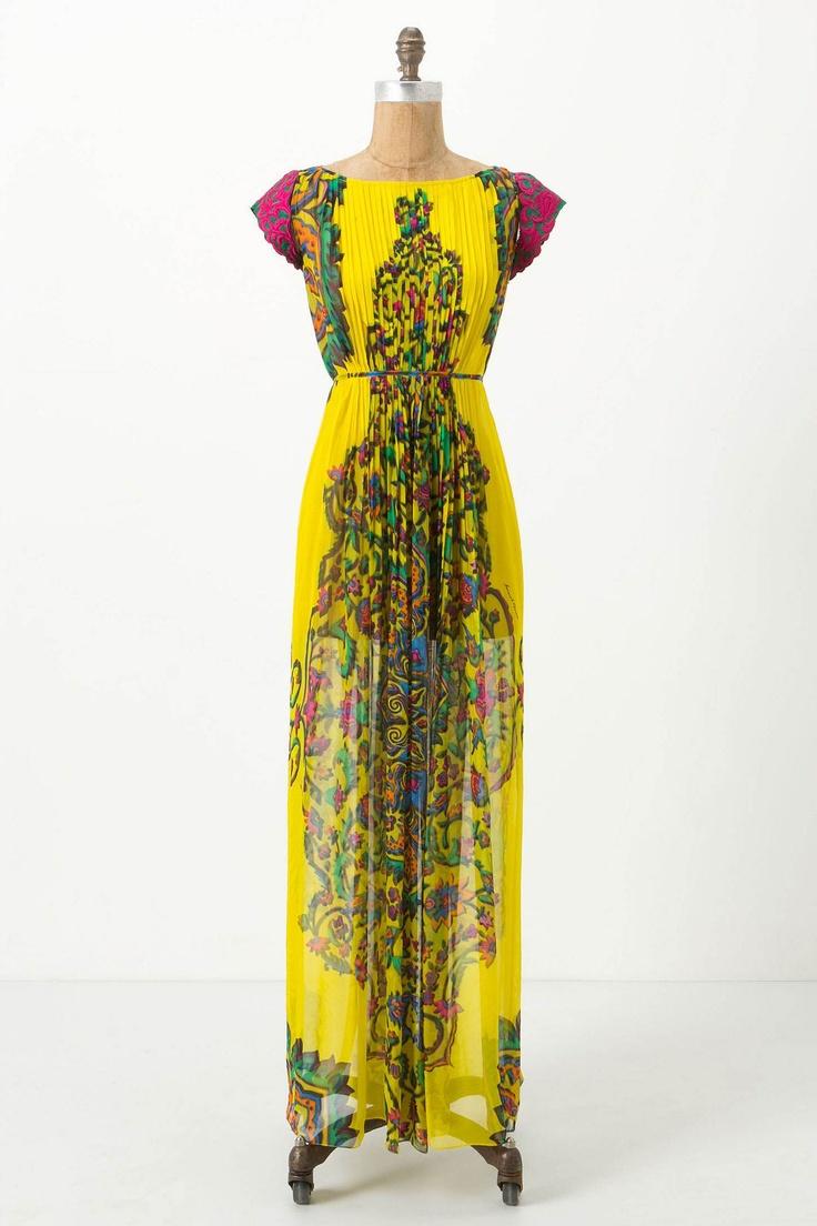 amazing: Boho Chic, Maxi Dresses, Dresses Anthropology, Style, Clothing, Color, Yellow, The Dresses, Parvati Maxi