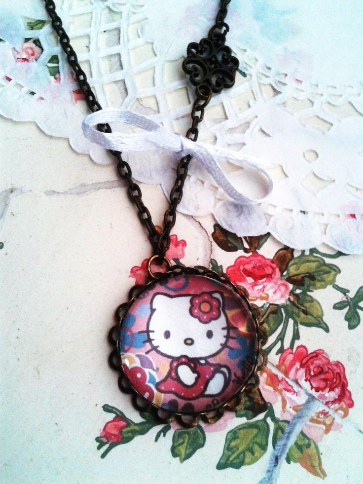 Hello Kitty kislány ékszer, mesés nyaklánc kis hercegnők örömére (vintage, jewerly, necklase, Disney Princess, Minnie)