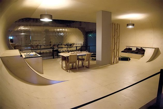 Skate-Park House. How cool would it be to do this in the garage for Ash?!?
