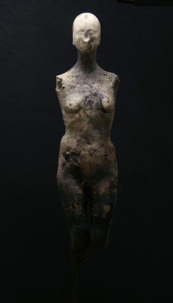 Nicola Samori, Seer, 2011 wax, pigment, plaster, iron